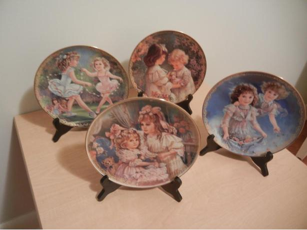'Precious Gifts Day by Day' Collection LOT of 4 Porcelain Plates by Brenda Burke