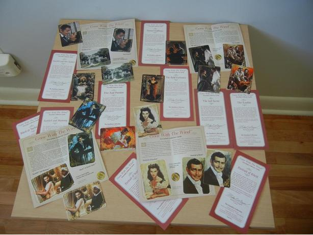 'Gone With the Wind' LOT of 12 Porcelain Collector Cards