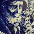 "Vintage Delft BOCH FRERES ""Fisherman"" Collector Plate"
