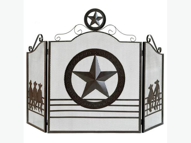 Western Style Texas Lone Star Fireplace Screen Brand New Outside Calgary Area Calgary
