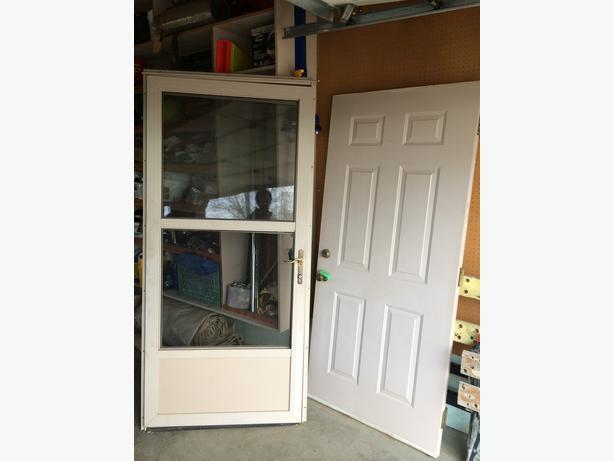 36 x80 exterior door storm door rural regina regina for Insulated storm doors