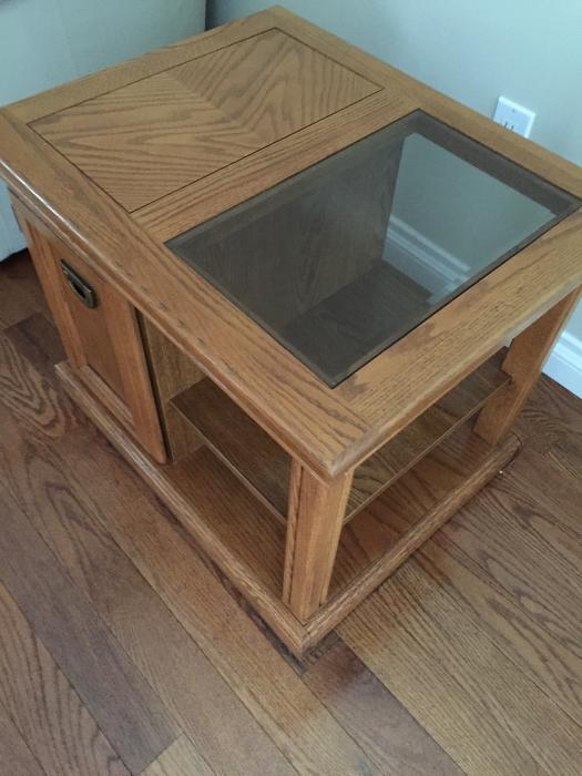 Oak coffee and side tables qualicum nanaimo mobile for Coffee tables london ontario