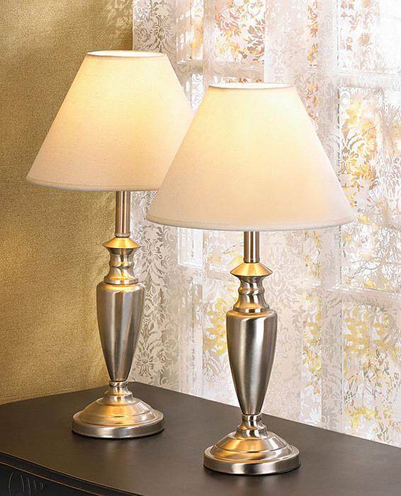 3PC Lamp Set Pole Floor Lamp & 2 Table Lamps Brand New Silvertone Outside Calgary Area, Calgary