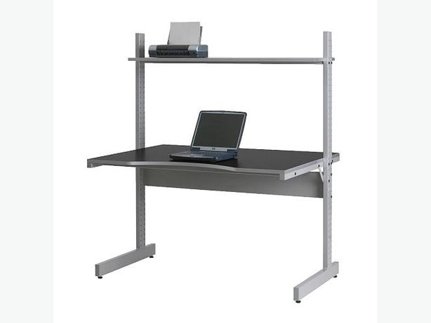Ikea jerker desk black grey kanata ottawa mobile for Mobile computer ikea