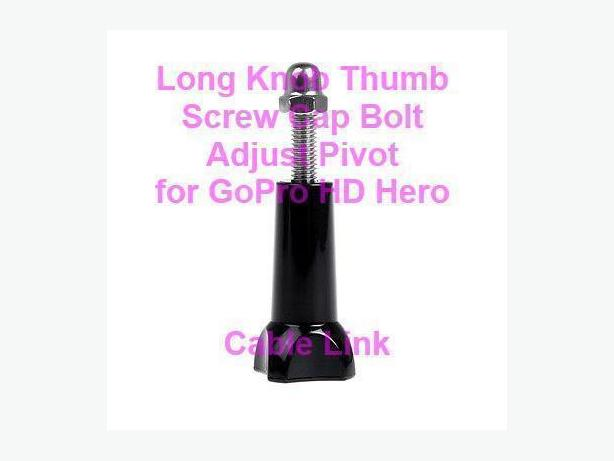 Long Knob Thumb Screw Cap Bolt Set for GoPro HD Hero