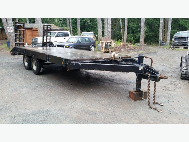 Heavy Duty Tractor Trailer : Heavy duty equipment trailer north nanaimo