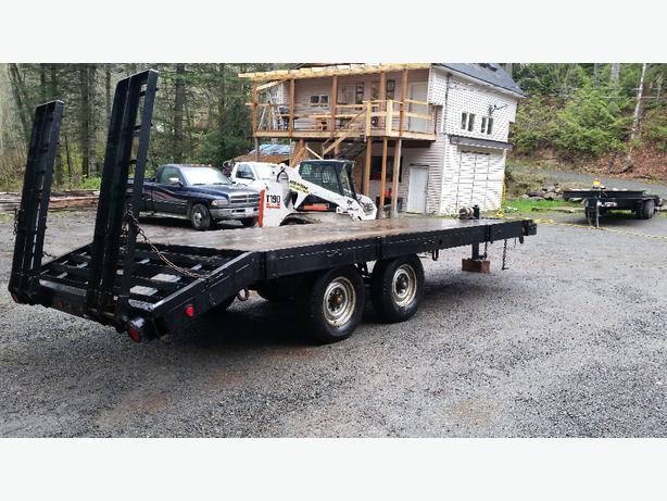 Heavy Duty Tractor Trailer : Heavy duty equipment trailer north nanaimo mobile