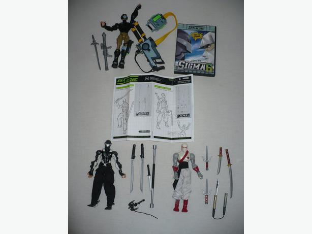 2005 Hasbro G.I.Joe Sigma 6 - DVD and 3 Rare 20cm Figures