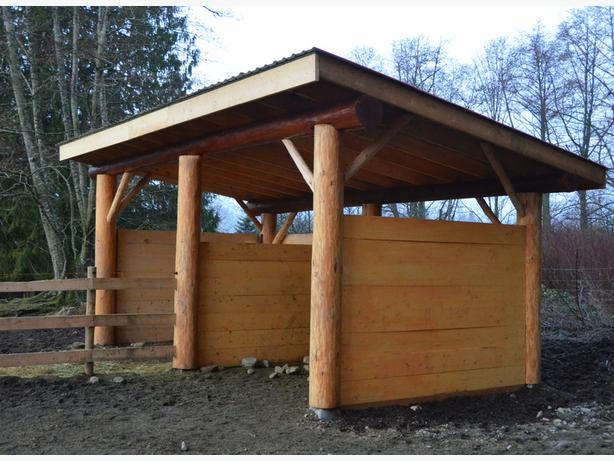 Post And Beam Shed North Nanaimo Parksville Qualicum