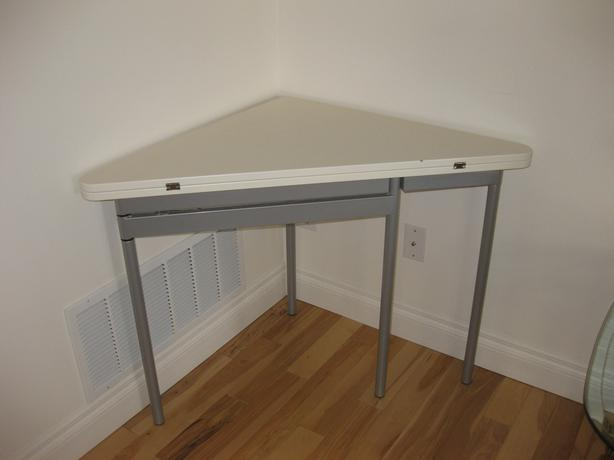 ikea folding table triangle
