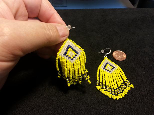 Lucky 13 bead Earrings