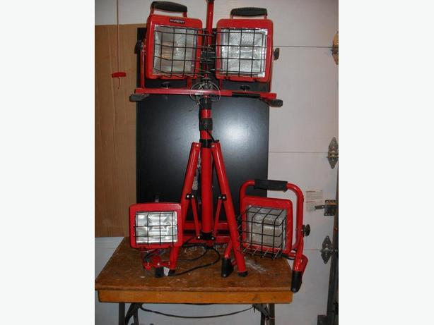 HD portable lighting system/Projecteurs portatifs de chantier