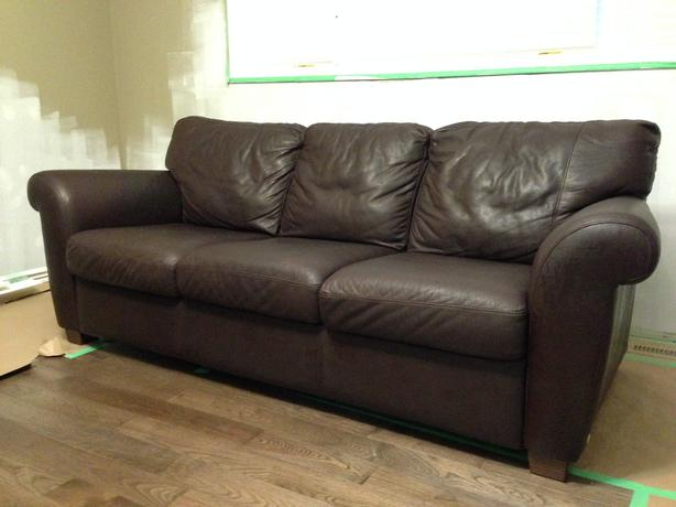 Natuzzi Brown Leather Sofa And Loveseat Set East Regina