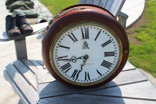 Old English Post Office Clock Outside Victoria Victoria