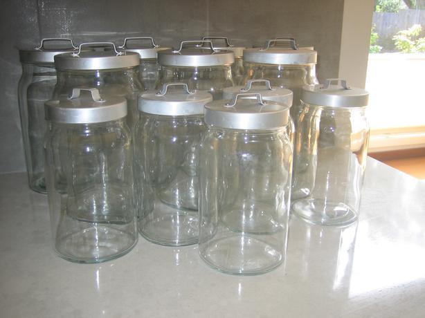 Ikea Burken Glass Storage Jars
