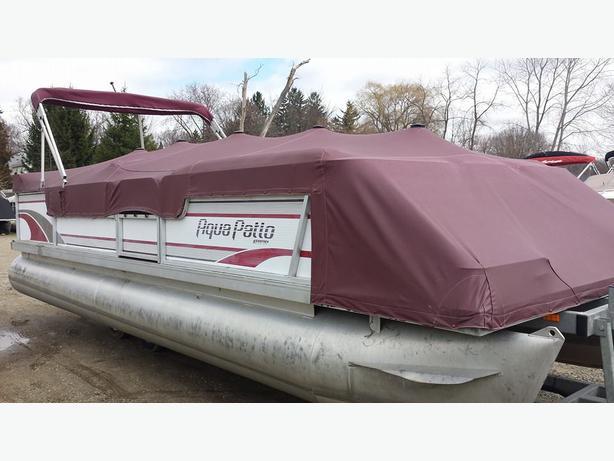 1995 Aqua Patio 24 Pontoon Boat W 1995 Mercury 30hp Very