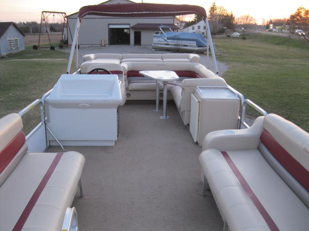 1995 Aqua Patio 24u0026#39; Pontoon Boat W/1995 Mercury 30hp VERY LOW HOURS  Barrie / Innisfil, SimcoeCounty