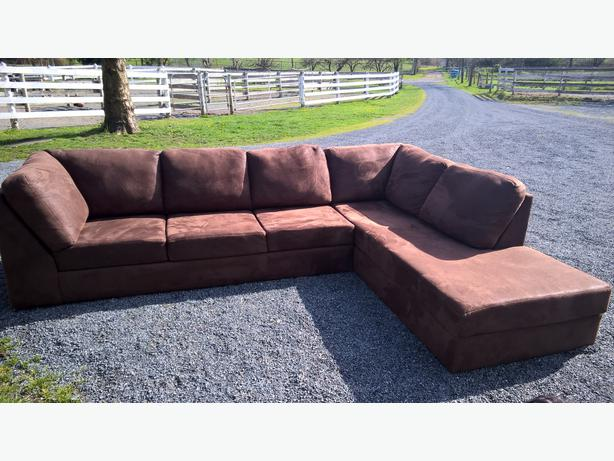 Micro suede couch for sale langley vancouver for Suede couches for sale