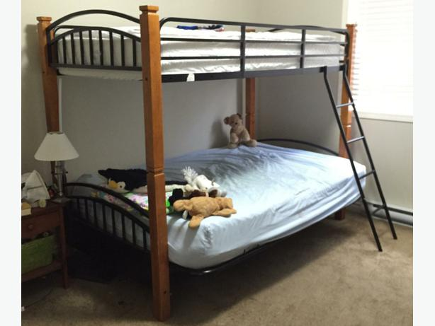 Solid Wood And Wrought Iron Bunk Beds Victoria City Victoria