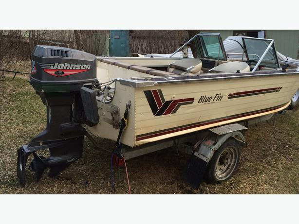 Blue Fin Aluminum Boat Motor And Trailer Moose Jaw Regina