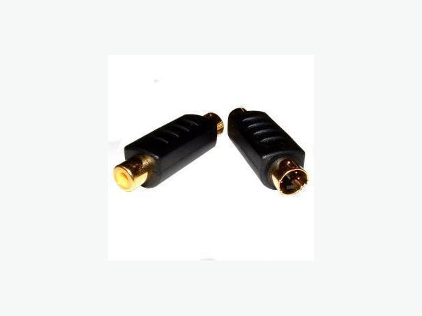 S-video (M) to RCA Composite Video(F) Adapter