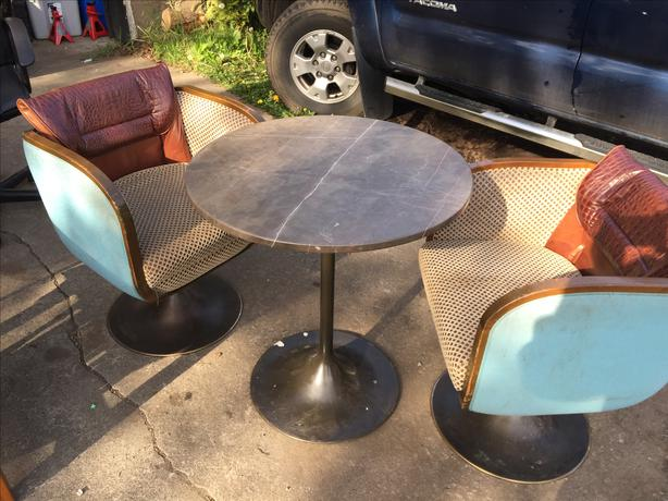 Funky chair and table set saanich victoria for Funky cafe furniture
