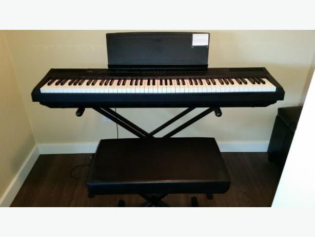 p105 yamaha 88 weighted key digital piano vernon okanagan