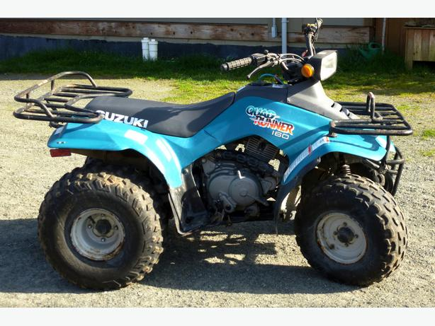 Suzuki Quad Runner 4x4, Call today to make an appointment Suzuki Quad Runner 4x4 Dont let the age of this quad fool you! With only miles on the engine the previous owner has just broken it in, well maintained and kept this Suzuki will not let you down!(Listed price does not include $98 doc fee).