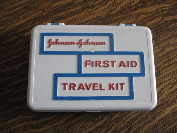 Vintage plastic first aid kit box