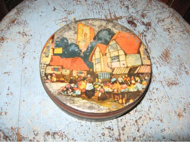 Old Blue Bird toffee tin