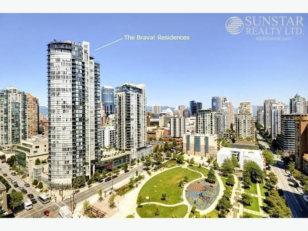 Yaletown Furnished 2 Bed + Office w/ Balcony @ The Brava! (1104)