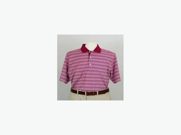 GOLF SHIRTS - DOUBLE MERCERISED, 2XL, NO POCKETS, MOSTLY RED