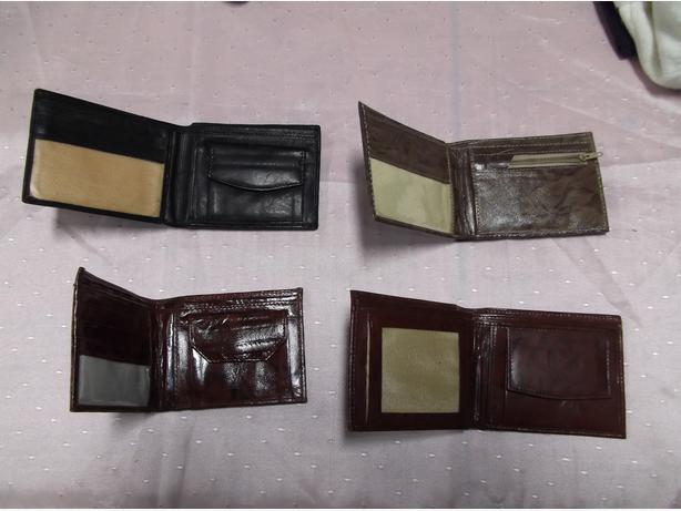 LEATHER WALLETS - MEN'S,MOSTLY TAN/BROWN, 500 UNITS FOR RESELLER