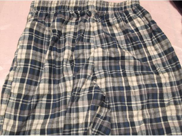 PLAID SHORTS - BLUE AND GREEN, 200 PIECES, 2 POCKETS, NO NAME