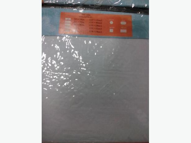 TABLE CLOTH VINY-WHITE COLOUR, 2 SIZEZ, 2 SHAPES, 40 PIECES2.50