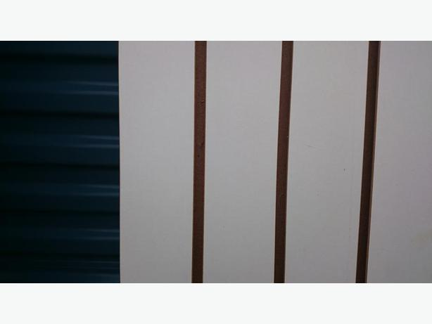 SLAT WALL PIECES (USED) 2 8' X 1', 2 4' X 4'