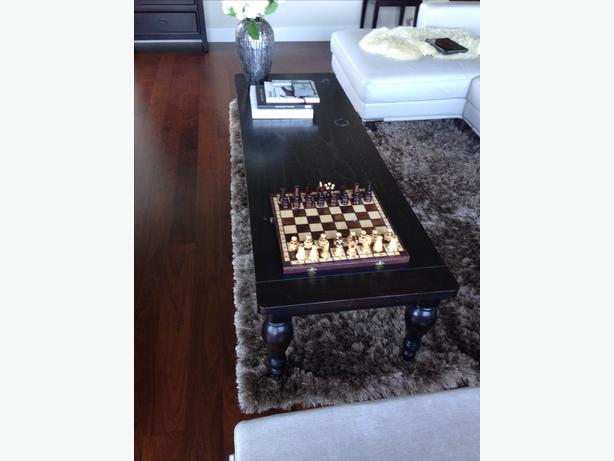 Solid wood coffee table from urban barn west shore for Coffee tables urban barn