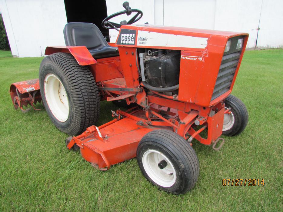 1977 Case 446 Garden Tractor And Accessories North Regina