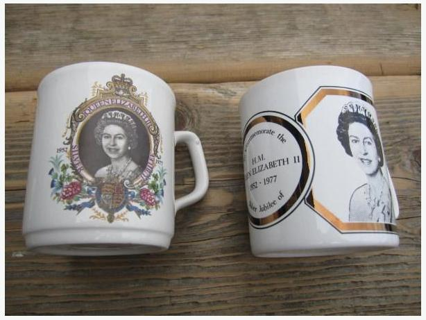 2 QUEENS CUPS FOR SILVER JUBILEE