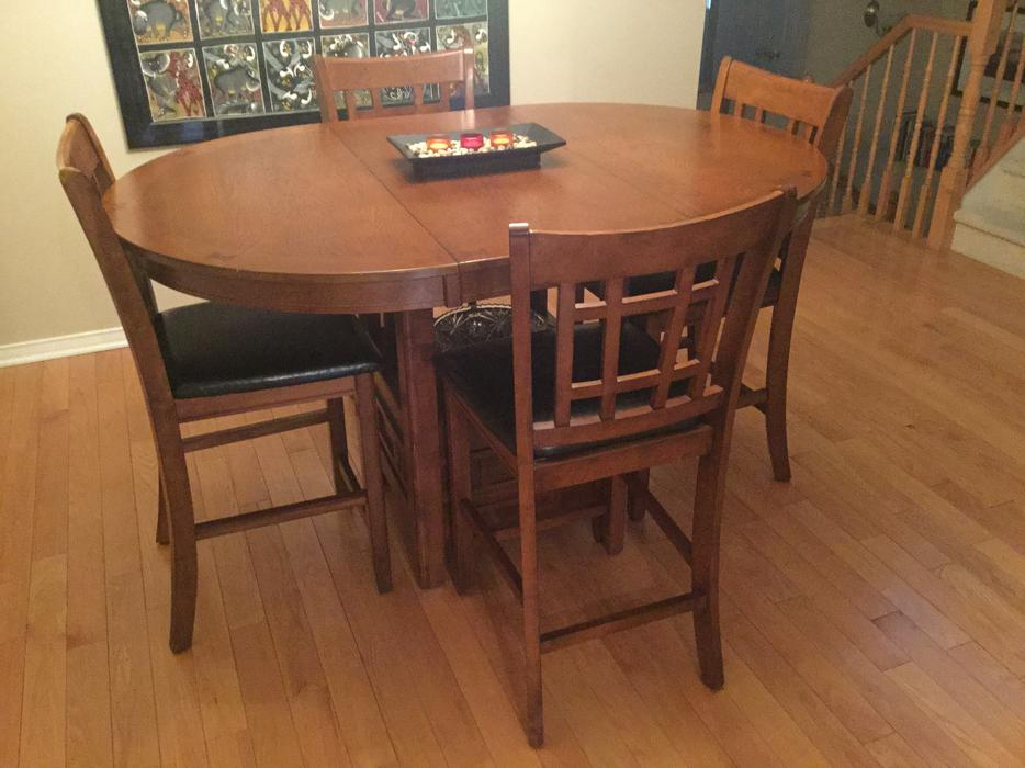 pub style dining room table orleans ottawa mobile. Black Bedroom Furniture Sets. Home Design Ideas