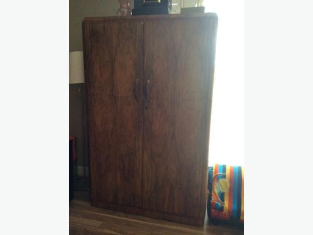 Gorgeous Vintage Art Deco Armoire Entertainment Unit