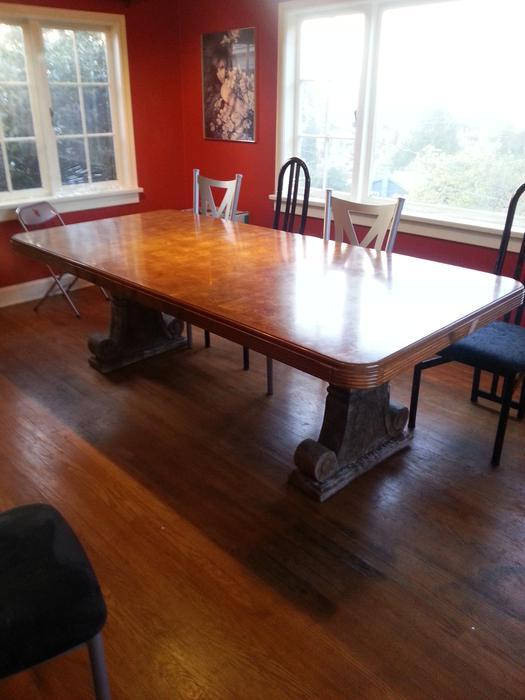 antique style concrete dining room table legs and huge table Esquimalt \u0026 View Royal, Victoria