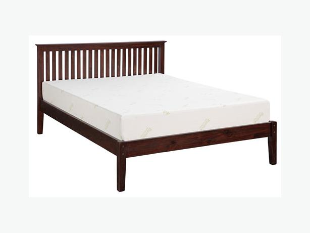 New solid wood queen bed frame 15 off victoria city victoria for Used wooden bed frames
