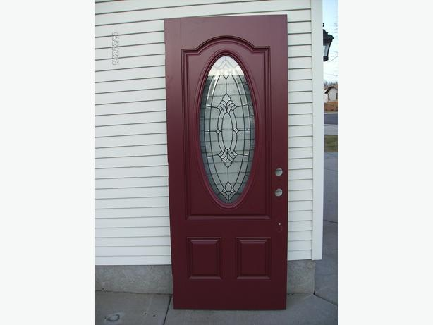 Masonite fiberglass door price reduced north for Masonite belleville door price