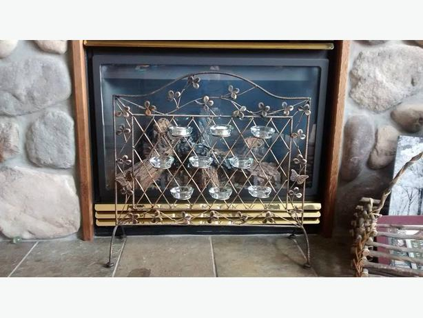 Decorative Fireplace Candle Screen Central Nanaimo