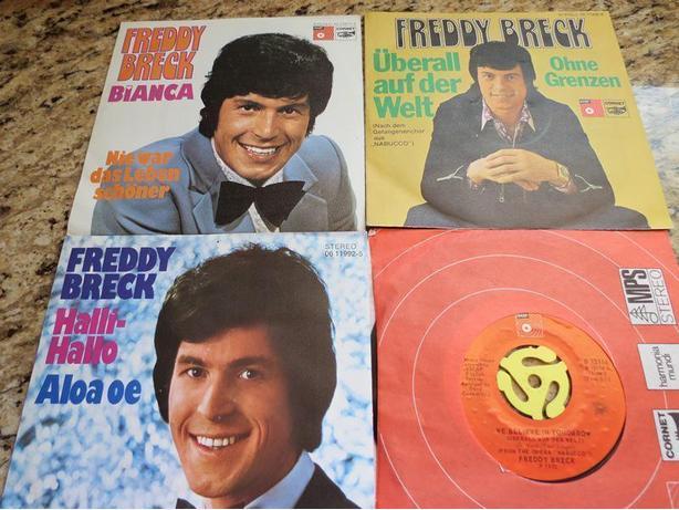 Four Freddy Breck 45s