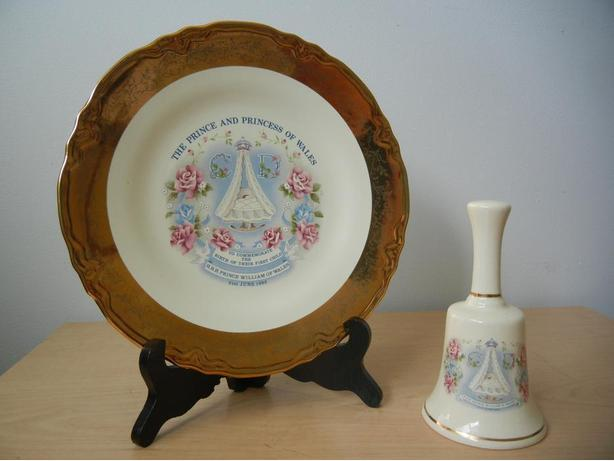 Vintage ROYALS Commemorative Plate, Bell, Mugs Lady Diana and Prince Charles