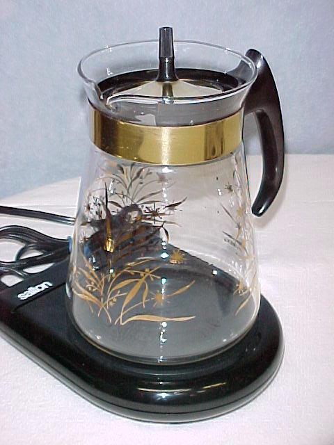 Coffee Pot Warmer Electric : Retro Pyrex 8 Cup Coffee Carafe Pot Gold Trim~Electric Warmer Outside Nanaimo, Nanaimo