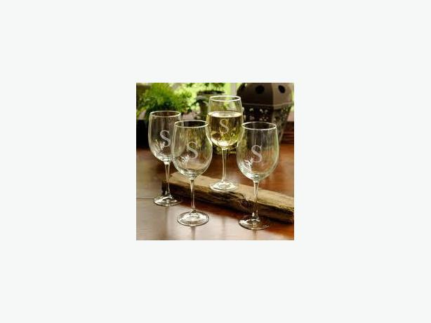 Wine Glasses Etched