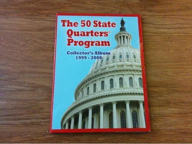 complete set of 50 U.S. state quarters in collector's album